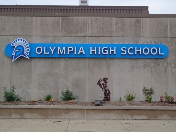 Olympia School District Exterior Channel letters