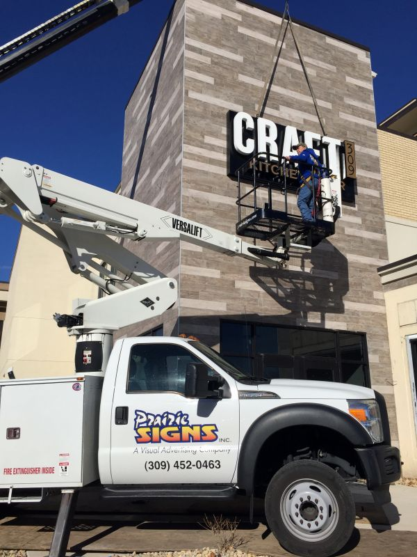Sign installation by local professionals
