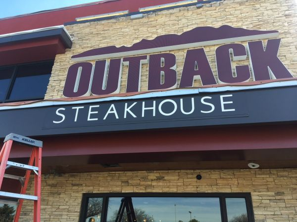 Restaurant Mounted Sign for Outback Steakhouse